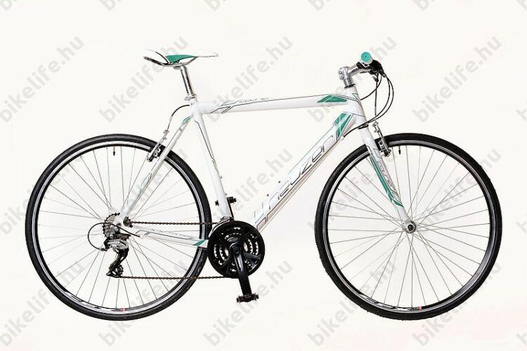 Neuzer Courier fitnesz kerékpár 21 fokozatú Shimano Acera váltórendszer, fehér/türkiz 54cm NE1641131014