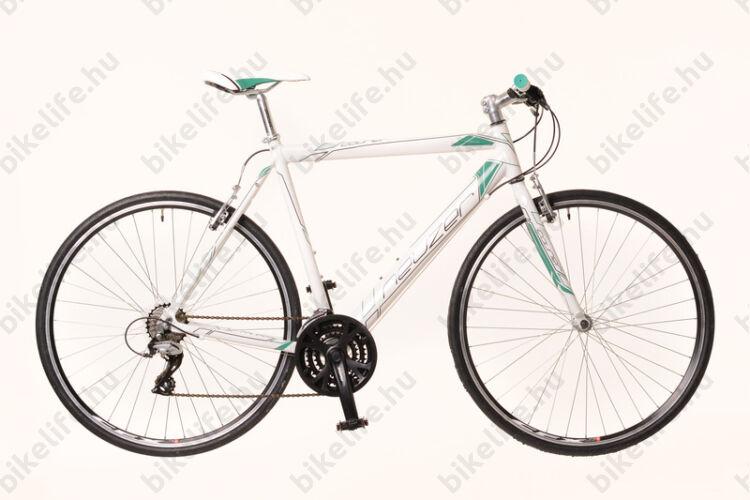Neuzer Courier fitnesz kerékpár 21 fokozatú Shimano Acera váltórendszer, fehér/türkiz 56cm 111441071016