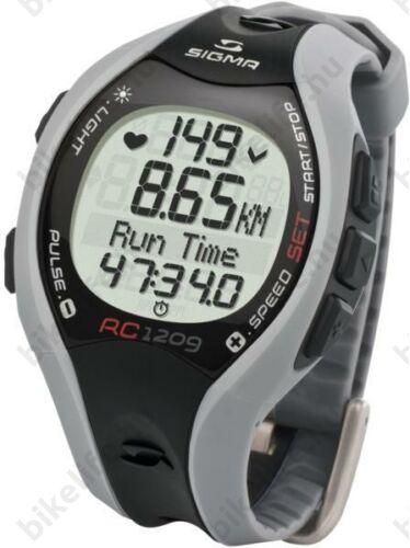 Pulzusmérő Sigma RC 1209 futóóra, szürke/fekete, Digitális kódolású, ELEM NEM TARTOZÉK! 25100