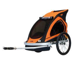 KTM Carry gyermek szállító utánfutó, 2 gyermeknek, 45kg terhelhetőség, időjárás álló boritás