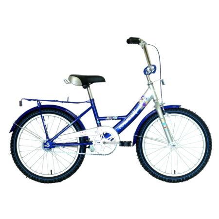 """Hauser Swan city 20""""-os gyerekkerékpár, kontrás, ezüst/kék"""