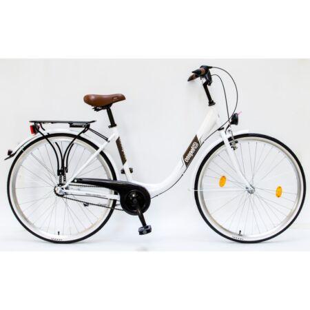 """Csepel Budapest B 28""""-os városi kerékpár 3 sebességes Nexus agyváltó, fehér"""