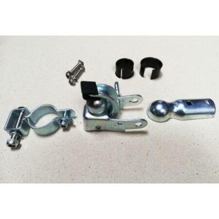 Utánfutó csatlakozó vagy adapter, gömbfejes, nyeregcsőre rögzíthető
