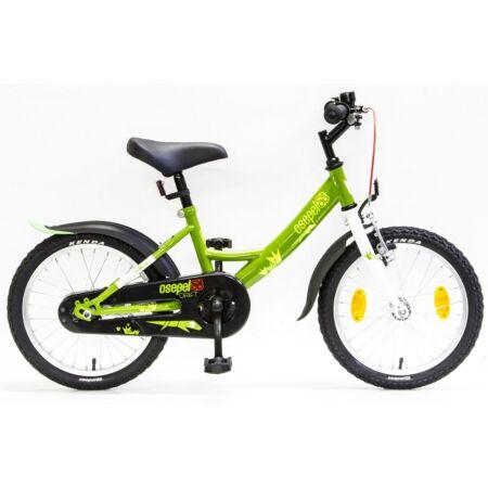 """Csepel Drift 16""""-os fiú gyerek kerékpár kontrafékes gyíkos zöld/fehér"""