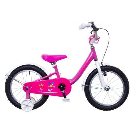 """Neuzer 16""""-os kontrafékes gyerek kerékpár lányka rózsaszín/fehér-pink"""