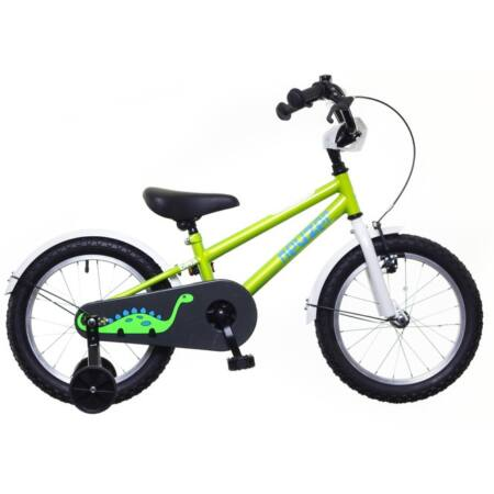 """Neuzer 16""""-os kontrafékes gyerek kerékpár fiú zöld/fehér-kék"""