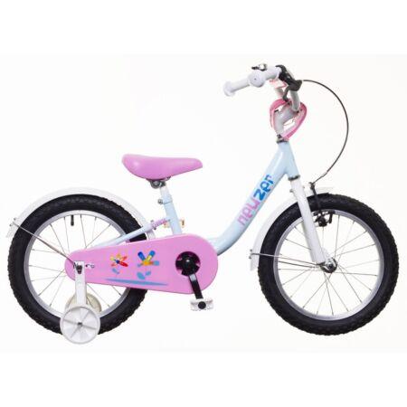 """Neuzer 16""""-os kontrafékes gyerek kerékpár lányka világoskék/fehér-pink"""