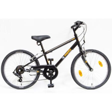 """Csepel Mustang 20"""" fiú gyermek kerékpár, 6 fokozatú váltó, fekete/narancs"""