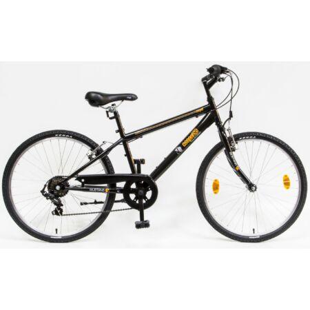 """Csepel Mustang 24""""-os gyerek kerékpár, fiú, 6 seb. Shimano váltó, fekete/narancs"""