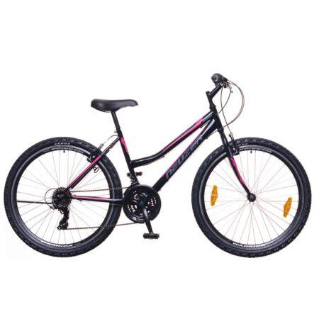 """Neuzer Nelson 30 női MTB kerékpár 18 fokozatú, duplafalú kerekek, fekete/szürke-pink 17"""""""