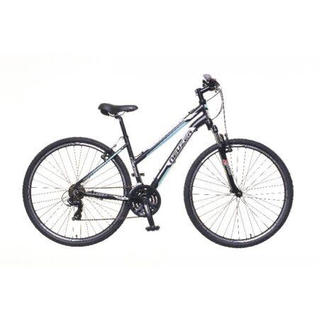 """Neuzer X100 női cross kerékpár 21sebességes Shimano váltó, fekete/fehér-kék 17"""""""