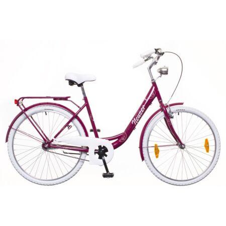 """Neuzer Balaton Prémium 28""""-os városi kerékpár kontrás, padlizsán/fehér-barna"""