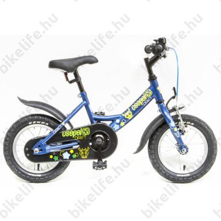 """Csepel Drift 12""""-os fiú gyerek kerékpár kontrafékes szarvasos, acélkék"""