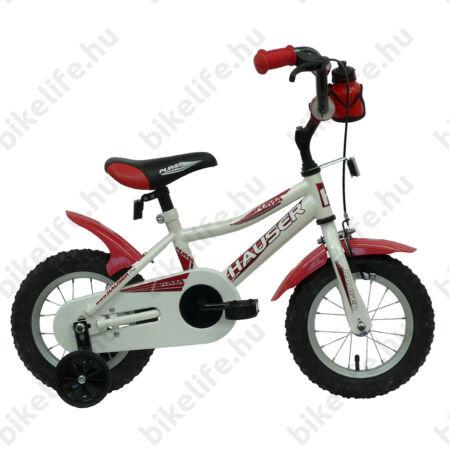 """Hauser Puma 12""""-os gyerekkerékpár, kontrás, fehér"""