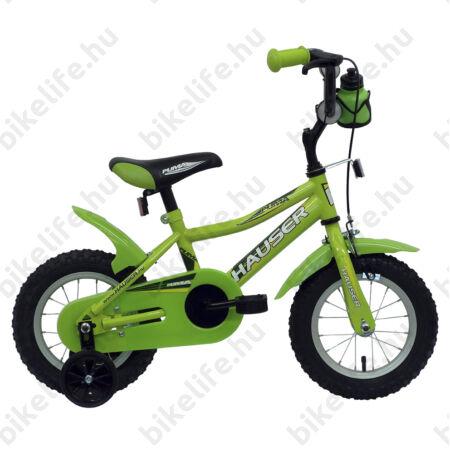 """Hauser Puma 12""""-os gyerekkerékpár, kontrás, zöld"""