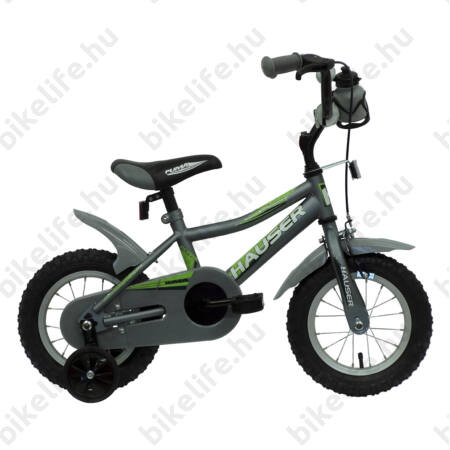 """Hauser Puma 12""""-os gyerekkerékpár, kontrás, matt szürke"""