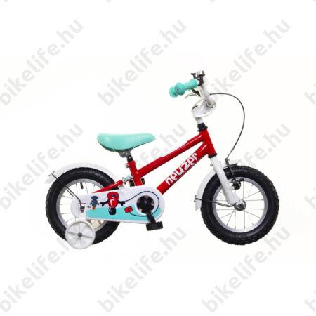 """Neuzer BMX 12""""-os gyerek kerékpár, kontrafékes, sárvédővel, piros/fehér türkiz"""