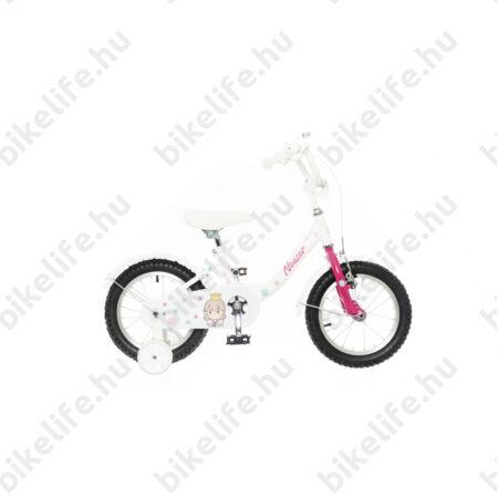 """Neuzer Cupcake 12""""-os gyerekkerékpár, kontrafékes, kosárral, sárvédővel, fehér/világos kék"""