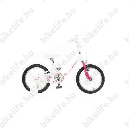 """Neuzer BMX 14""""-os gyerekkerékpár, kontrafékes, piros/fehér-türkiz"""