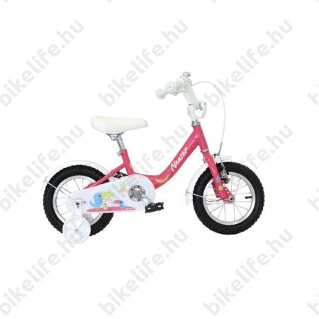 """Neuzer BMX 14""""-os lányka gyerekkerékpár, kontrafékes, sárvédővel, pink/fehér-pink"""