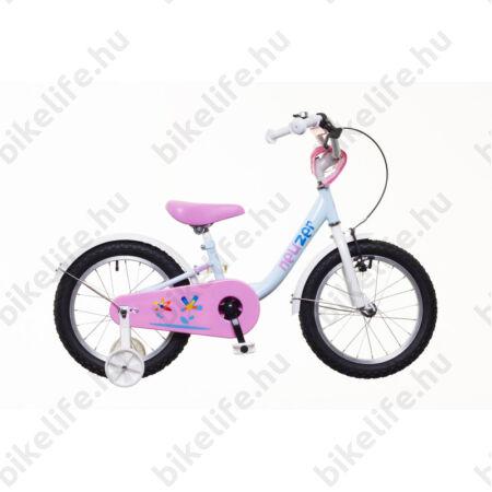 """Neuzer BMX 14""""-os lányka gyerekkerékpár, kontrafékes, sárvédővel, világoskék/fehér-pink"""