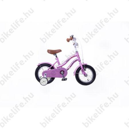 """Neuzer Cruiser 12""""-os gyerek kerékpár, lányka, kontrás, rózsaszín"""