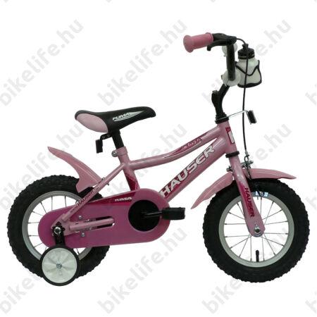 """Hauser Puma 12""""-os gyerekkerékpár, kontrás, rózsaszín"""