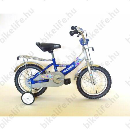 """Hauser Swan 14""""-os gyerekkerékpár kontrás, ezüst/kék"""
