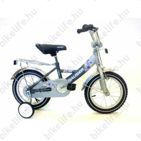 """Hauser Swan 14""""-os gyerekkerékpár kontrás, mattezüst/grafit"""