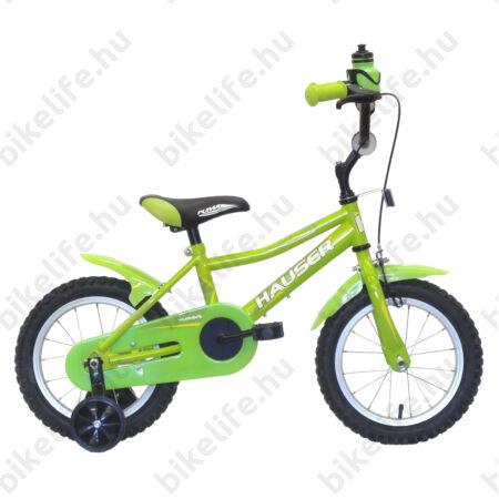 """Hauser Puma 14""""-os gyerekkerékpár kontrás, zöld"""
