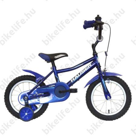 """Hauser Puma 14""""-os gyerekkerékpár kontrás, kék"""