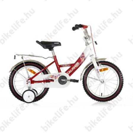 """Hauser Swan 16""""-os gyerekkerékpár kontrás, fehér/piros"""