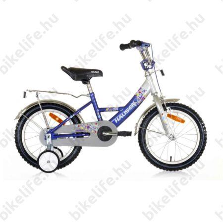 """Hauser Swan 16""""-os gyerekkerékpár kontrás, ezüst/kék"""