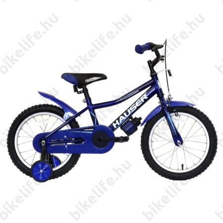 """Hauser Puma 16""""-os gyerekkerékpár, kontrás, sötétkék"""