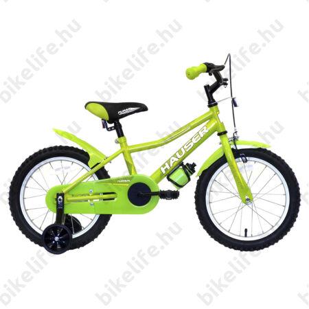 """Hauser Puma 16""""-os gyerekkerékpár, kontrás, zöld"""