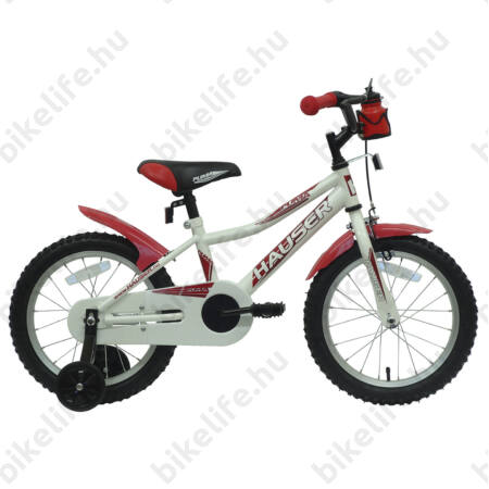 """Hauser Puma 16""""-os gyerekkerékpár, kontrás, fehér"""