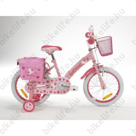 """Hello Kitty 16""""-os gyerekkerékpár kontrás, pink"""