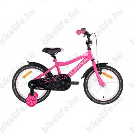"""Alpina Starter 16""""-os gyerekkerékpár, kontrás, rózsaszín"""