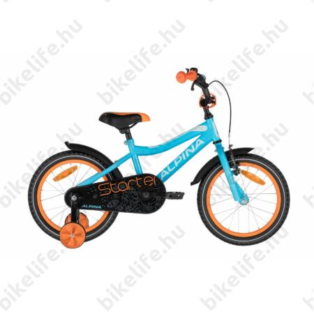 """Alpina Starter 16""""-os gyerekkerékpár, kontrás, világoskék/narancs"""