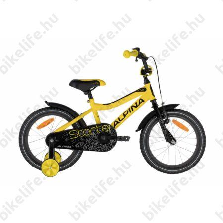 """Alpina Starter 16""""-os gyerekkerékpár, kontrás, sárga/fekete"""