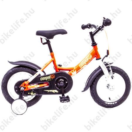 """Csepel Drift 12""""-os fiú gyerek kerékpár kontrafékes gyíkos, piros/fehér"""