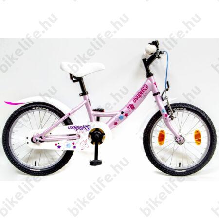 """Csepel Lily 16""""-os lányka gyerek kerékpár rózsaszín, kontrafékes"""