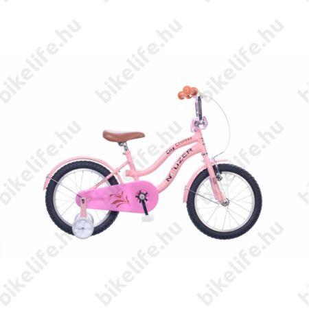 """Neuzer Cruiser 16""""-os gyerekkerékpár, lányka, kontrás, rózsaszín"""