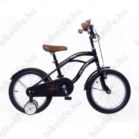 """Neuzer Cruiser 16""""-os gyerekkerékpár, fiú, kontrás,fekete"""