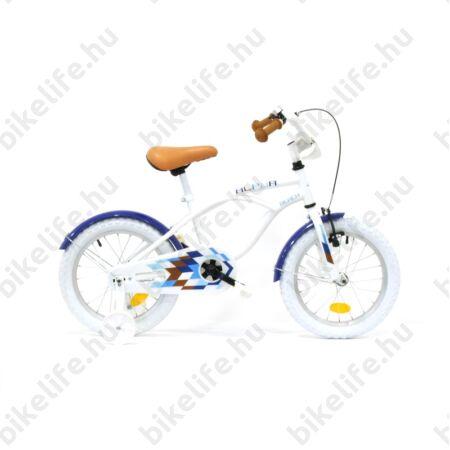 """Neuzer Cruiser 16""""-os gyerekkerékpár kontrás fehér/kék"""