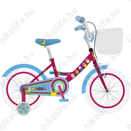 Neuzer Cupcake 16-os lányka gyermek kerékpár rózsaszín/kék kontrafékes