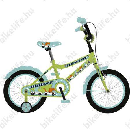 Neuzer Wildwagon 16-os kontrafékes gyerek kerékpár fiú neonzöld/kék