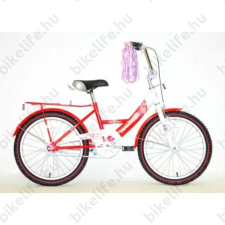 """Hauser Swan city 20"""" gyermek kerékpár, kontarfékes, fehér/piros"""