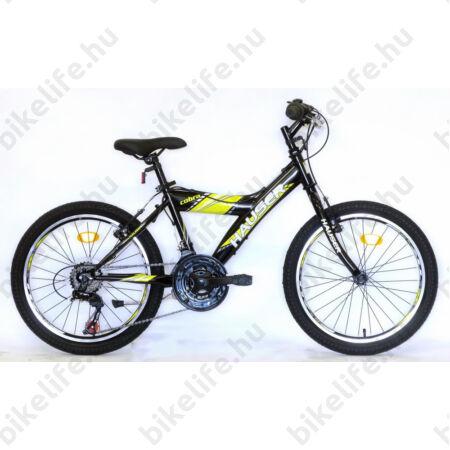 """Hauser Cobra 20""""-os gyerekkerékpár, fiú, Shimano Revoshift 18 seb. váltórendszer, fekete/sárga"""