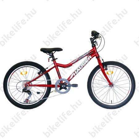 """Hauser Fox 20""""-os gyerekkerékpár, Unisex váz, Shimano Revoshift 6seb. váltó, bordó"""